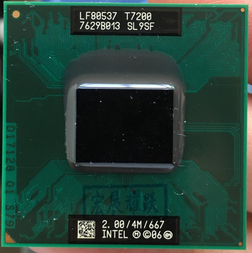 Intel Core 2 Duo T7200 CPU ordenador portátil procesador PGA 478 cpu 100% funciona correctamente.