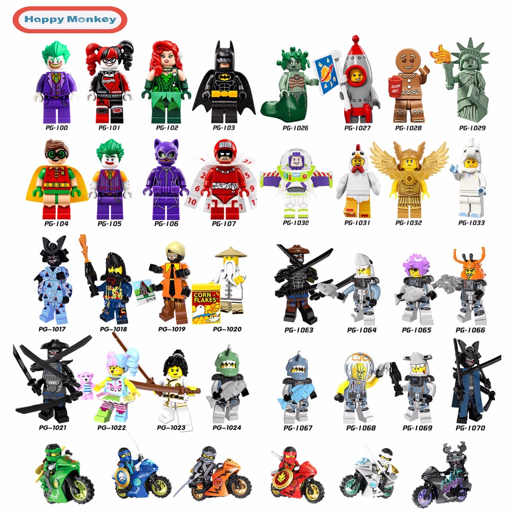 2018 Hot Ninjago Building Blocks toys Compatible legoINGly Ninja Master Wu NYA Mini Bricks figures for kids gifts Free shipping ninjago set green mech dragon building blocks kids hot toys ninja bricks mini action figures enlighten toy legoinglys figure
