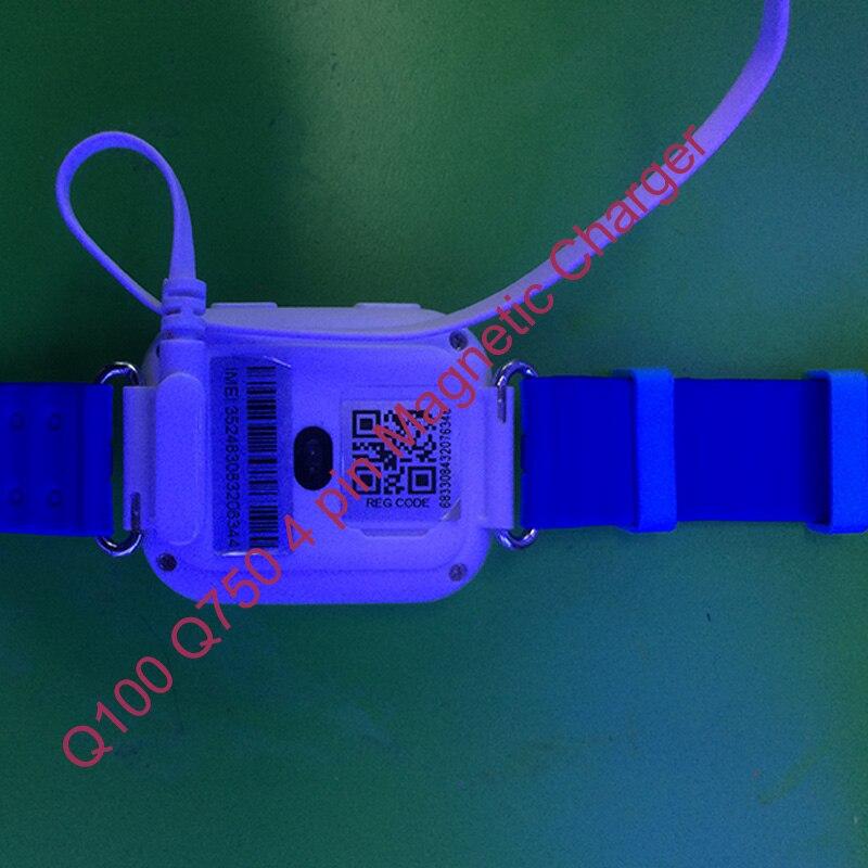 Broches Enfants Montre Magnétique Chargeur pour Q750 Q100 enfants montre gps d'origine 4 broches chargering câble pour montre intelligente