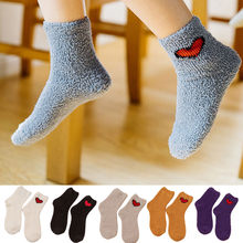 KANCOOLD for Girl Christmas Gift Women Cotton Socks Thick Anti-slip Coral fleece Boots Floor Sleeping Socks Carpet Socks PJ1024(China)