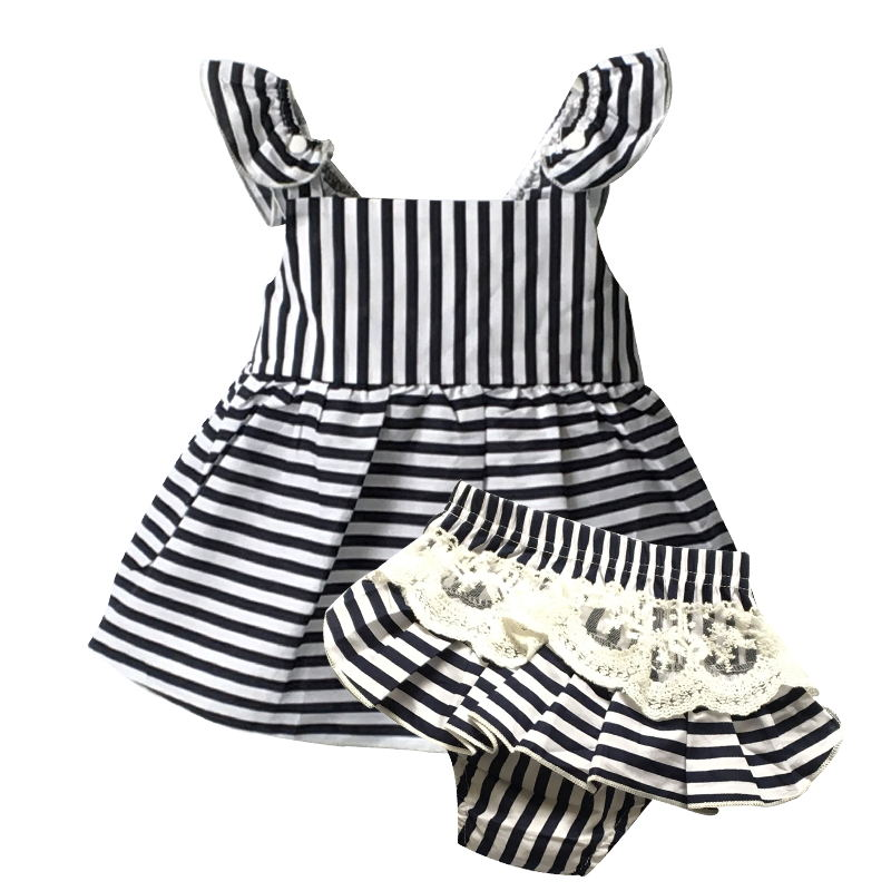 Baby clothes set summer cute baby girl clothes cotton ...
