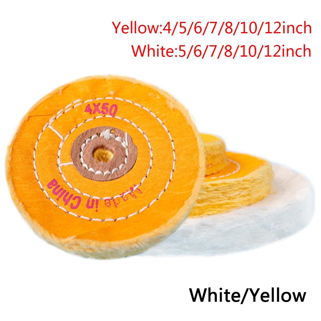 Cotton Lint Cloth Buffing Wheel 12mm Inner Hole Buffing Polishing Wheel Buffer Polish Pad For  Abrasive Tools Grinder