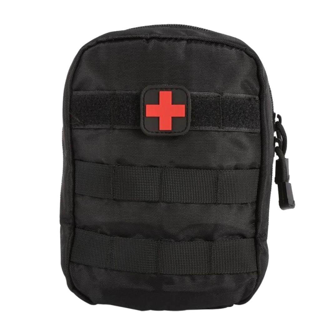 Outdoor Survival Tactical First Aid Emergency Zipper Patch Kits Medical Outdoor, Travel Square Bag