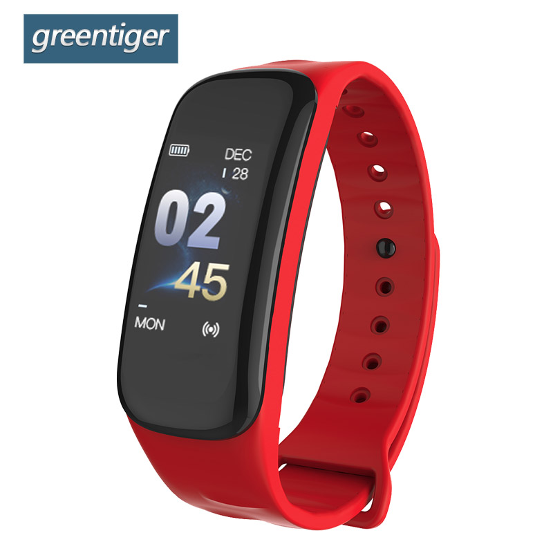 Greentiger C1 Smart Band VS C1 Plus Smart Bracelet Fitness Tracker Waterproof Heart Rate Monitor Blood Pressure Smart Wristband