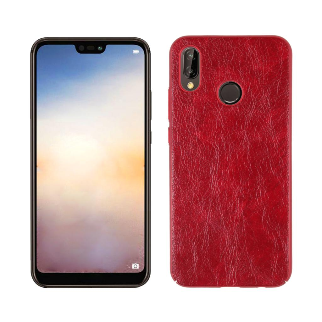 for Huawei P20 Lite Case Advanced Leather Protective Back Cover Mobile Phone Single Shell Crazy Horse Texture Skin Protector Bag