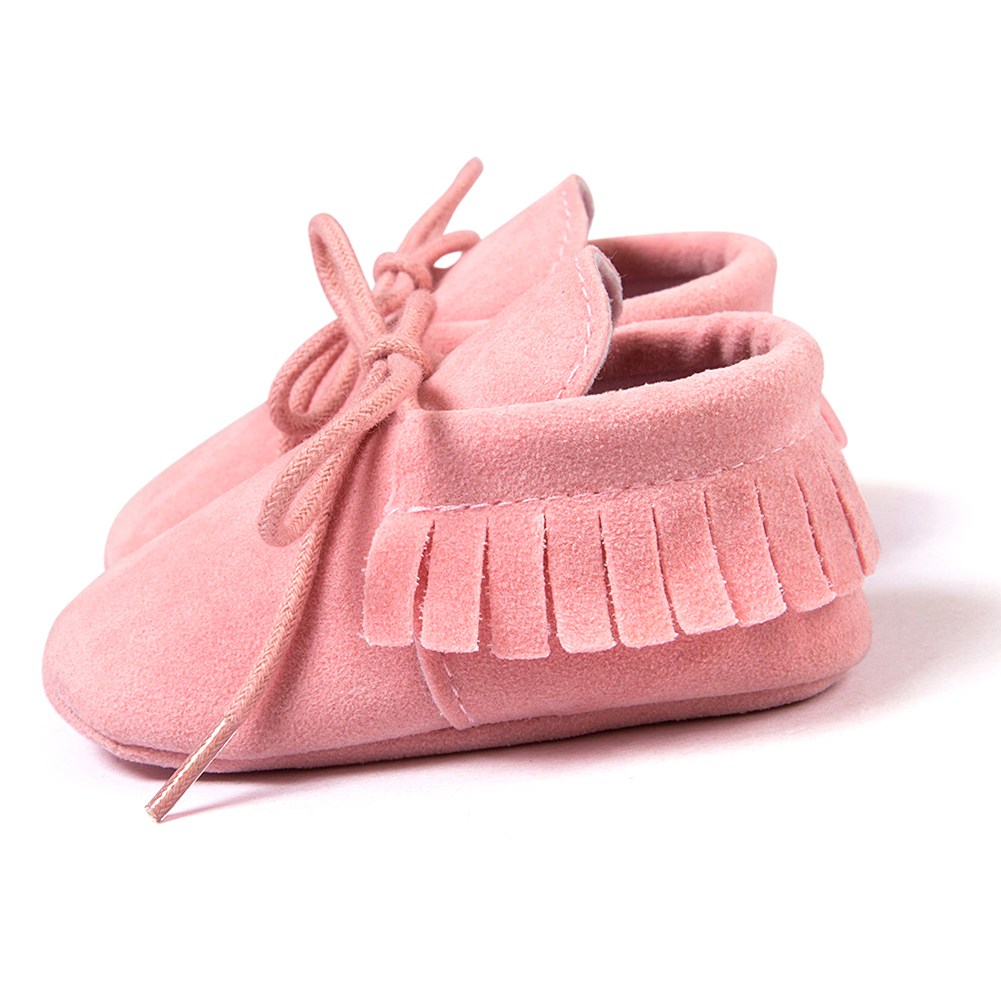 ABWE Best Sale ROMIRUS Spring/Autumn Baby Moccasins shoes infant Scrub boots first walkers Newborn baby shoes Black 11cm