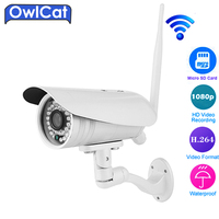 Owlcat 3516C 1 2 8 SONY323 Full HD 1080P Bullet Outdoor Waterproof WIFI IP Camera Two