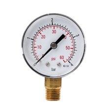 Gauge Manometer-Pressure-Tester Hydraulic-Vacuum NPT 0-60-Psi Mini 1/4-