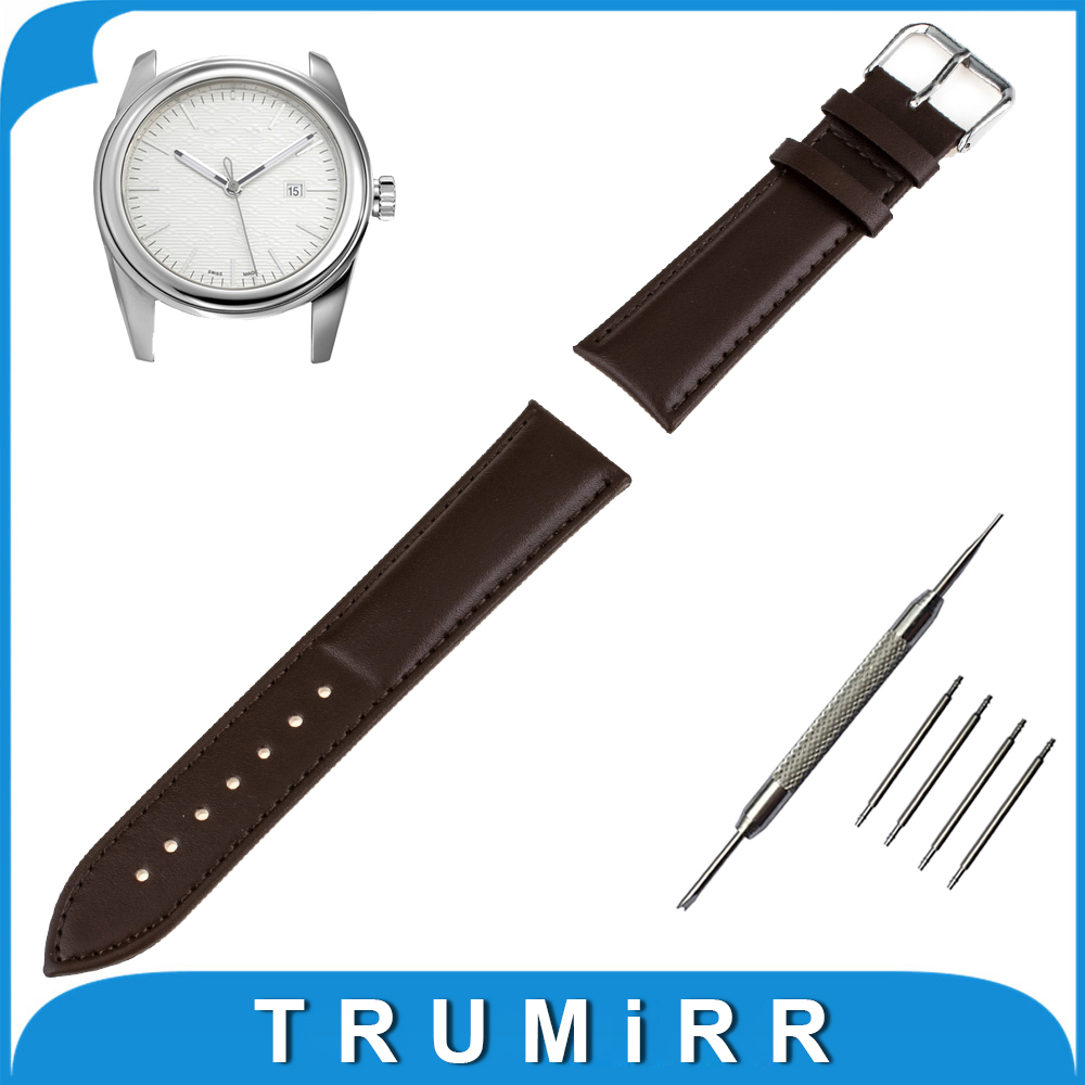 16mm 18mm 20mm 22mm Genuine Leather Watch Band for Tudor Watchband Stainless Steel Pin Buckle Strap Wrist Bracelet Black Brown genuine leather watch band 14mm 16mm 18mm 19mm 20mm 21mm 22mm for omega watchband strap wrist loop belt bracelet black brown