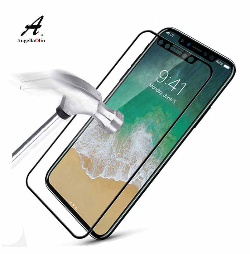 "9H Full Cover Tempered Glass For iPhone 11 Pro Xs Max XR 6 6s plus 7 7S 8 X 5 5s 5c SE 6.1"" Screen Protector Film Case"