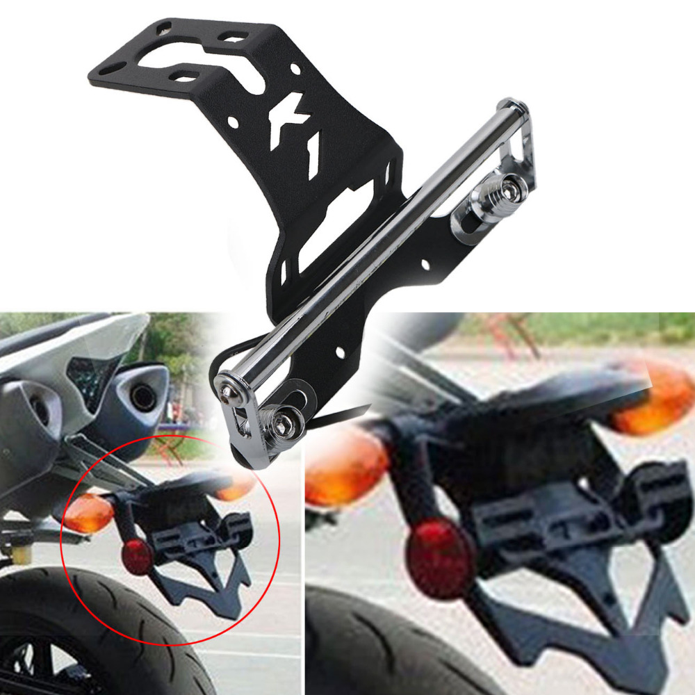 Motorcycle LED License Platel Light Bracket for Yamaha YZF R1 YZF-R1 2004-2015 Moto Fender Eliminator Tail Tidy #MX016 motorcycle tail tidy fender eliminator registration license plate holder bracket led light for ducati panigale 899 free shipping