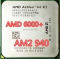 Бесплатная доставка для AMD X2 6000 + 940 pin 89 Вт 90 нанометр двухъядерный настольный компьютер ПРОЦЕССОР кэш 2 М