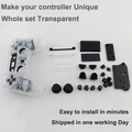 Complete Housing Shell Case for PS4 Dualshock 4 Controller - Transparent Clear