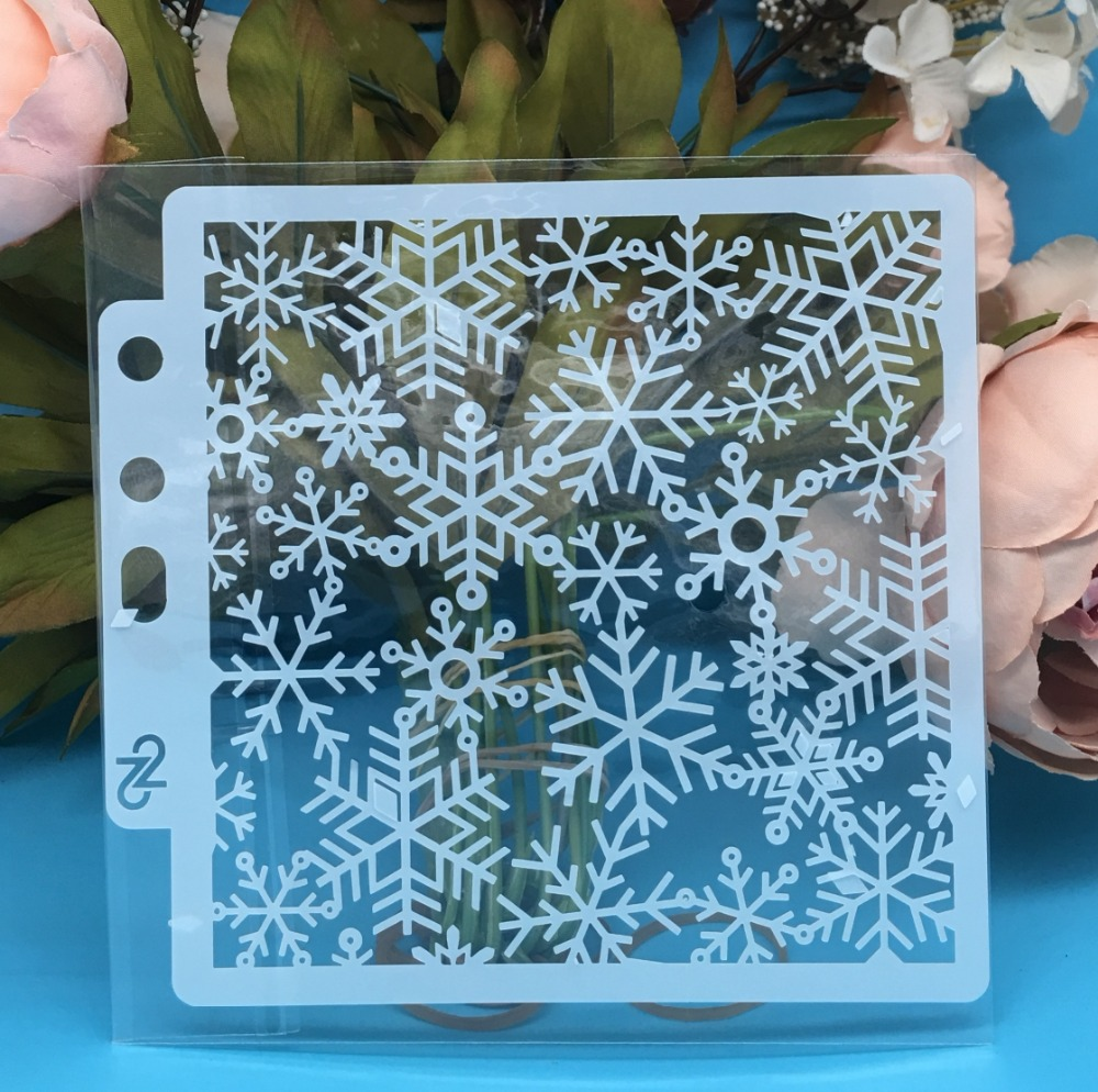 5.1inch New Snowflake DIY Layering Stencils Wall Painting Scrapbook Coloring Embossing Album Decorative Card Template