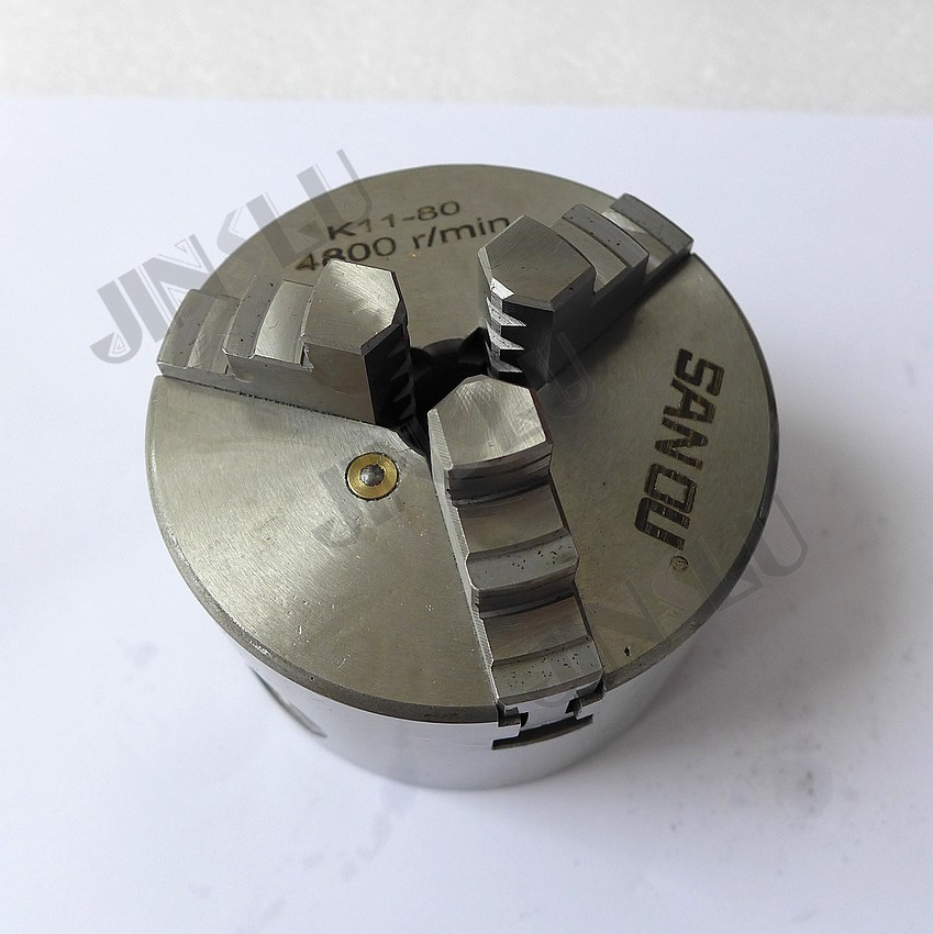 Free shipping to Russia , Self-centering Manual 3 jaw Lathe Chuck K11-80 3'' inch 3 3 jaw lathe chuck k11 80 k11 80 80mm manual chuck self centering lathe parts diy metal lathe lathe accessories
