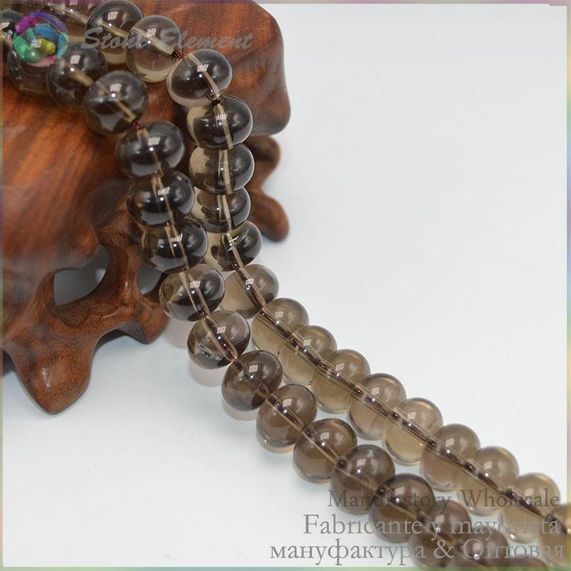 smoky quartz rondelle beads