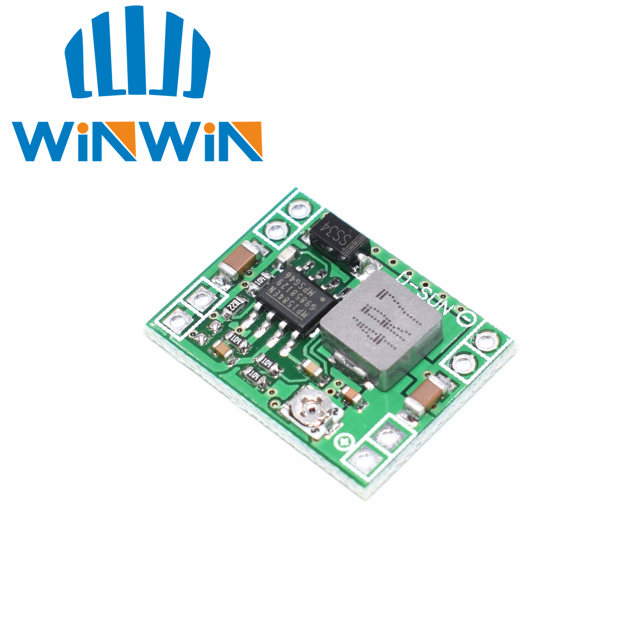 100PCS XM1584 Ultra small size DC DC step down power supply module 3A adjustable step down