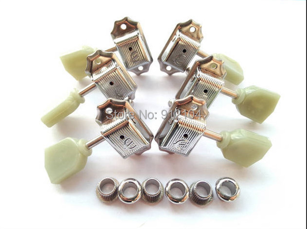 free shipping new  electric guitar jade tuning peg in chrome guitar button for both side of the guitar   EP-1 цена и фото