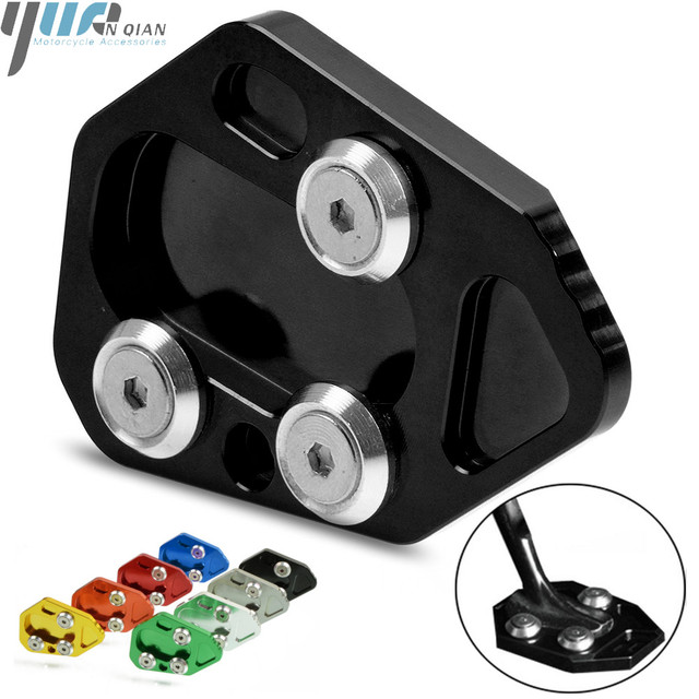 Motorcycle Side Stand Enlarger CNC Kickstand Enlarge Plate Extension Pad for BMW F800R 2009   2015 R1200S 06 08 HP2 SPORT 08 10