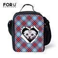 Cute Zoo Cat Printing Lunch Bag for Women Insulated Picnic Food Bags Portable School Kids Lunchbox Bolsa Termica Lancheira