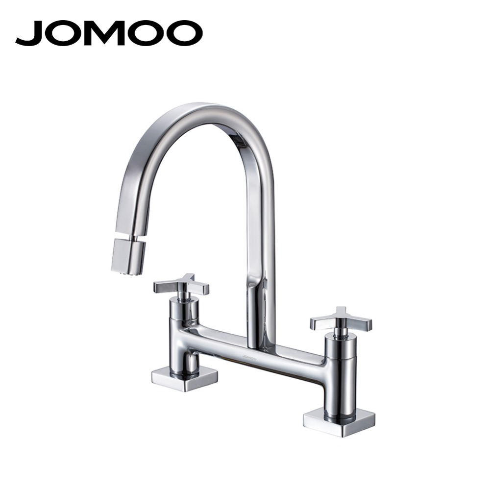 Jomoo Basin Sink Faucet Double Handle Double Hole Bathroom Faucet Mixer Tap 23009 In Basin