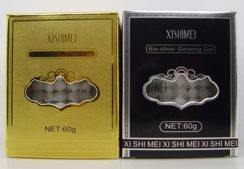 Terbaik menjual Bio Gold dan Silver Ginseng Pearl Gel / krim malam & siang * 2 pcs paket pelembab dan anti-penuaan krim wajah-tua ..
