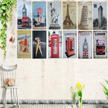 license Plate Metal Painting Vintage Wall Bar Home Art Decoration Cuadros  Mix Order 30X15CM B-9186