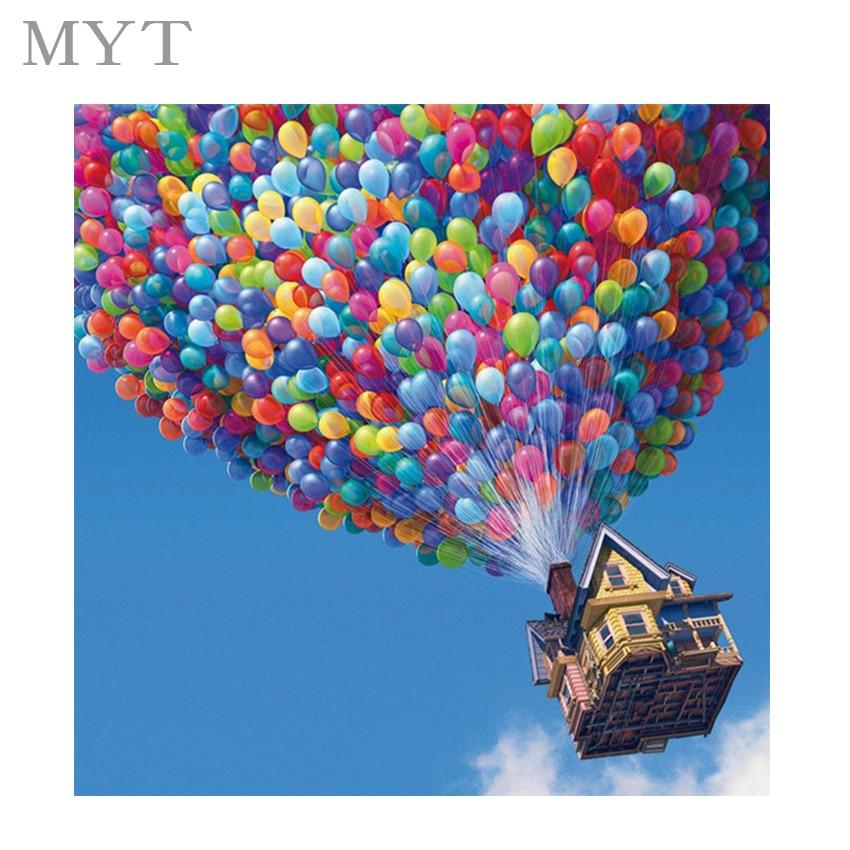 Kein rahmen ballon DIY digitale malerei landschaftsmalerei farbe ...