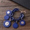 Романтические ограниченные женские круглые часы браслеты подарок на Рождество 2015, новинка стильные красочные акриловые браслеты и подвески в богемном стиле