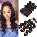360 Lace Frontal With Bundles Peruvian Virgin Hair Body Wave 3 Bundles With 360 Lace Frontal Human Hair Bundles With Frontal