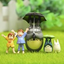 5PCS Studio Ghibli Toy My Neighbor Totoro  Action Figure Hayao Miyazaki xiaomei Anime Figures Figurines Kids Toys 58w