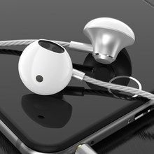 Original PTM Earphone Patent Half In-ear Headphone Stereo Earbuds Bass Headset with Microphone for iPhone Xiaomi Samsung Phones(China)