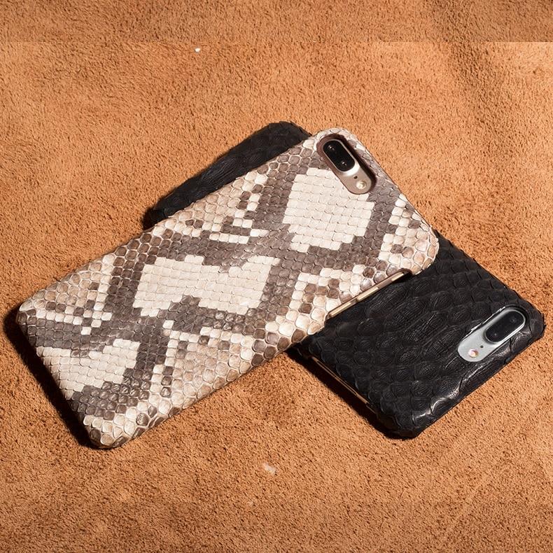 Housse en peau de serpent pour Apple iPhone 7/7 Plus 7 + Top qualité véritable Python étui en cuir véritable étui pour téléphone portable + cadeau gratuit