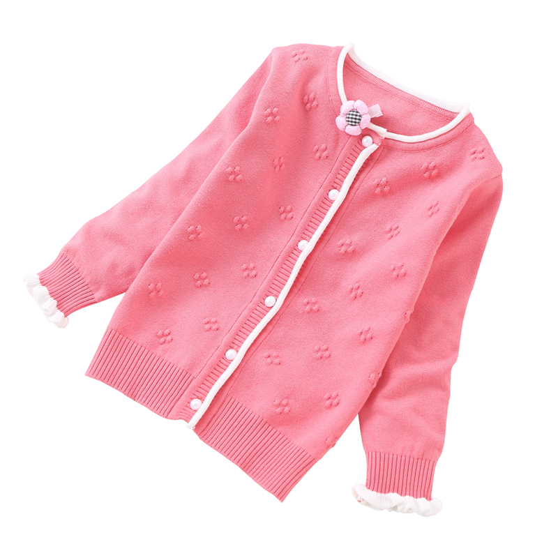 Rlyaeiz 2018 Baby Girls Sweater Casual Girls Cardigan Spring Autumn Thin Long-Sleeve Hollow Cotton Knitting Children Sweater пальто savage пальто в стиле куртки