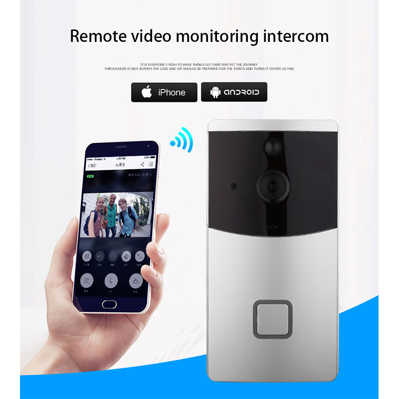FGHGF Security Camera Wireless Doorbell Ring Chime Door Bell Video Camera WiFi 720P Waterproof IR Night Vision Two Way Audio Hot howell wireless security hd 960p wifi ip camera p2p pan tilt motion detection video baby monitor 2 way audio and ir night vision