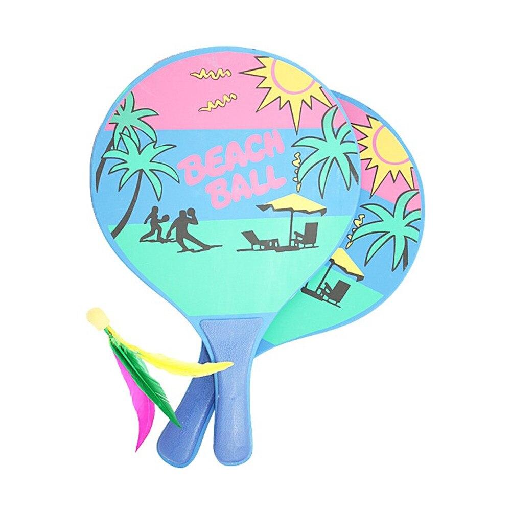 1 Set Beach Paddle Ball Game Badminton Rackets Indoor Outdoor Beach Lawn Backyard Racquet Game Backyard Garden Toys / Game!