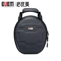 BUBM Универсальный наушников твердолобых случае Studio гарнитура защиты дорожная сумка для Audio-Technica/AKG-Q701/philips/Sennheiser и многое другое