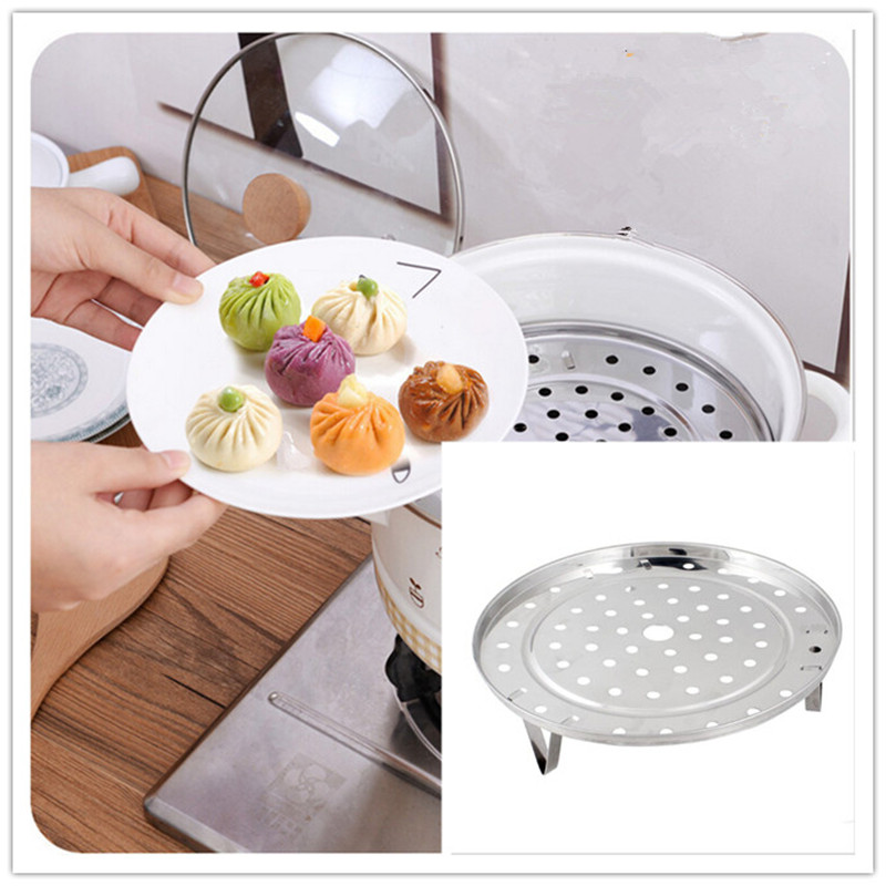 1Pcs  Multifunctional Stainless Steel Steaming Steamer Rack 19.5cm For Kitchen Bar Accessory M-887