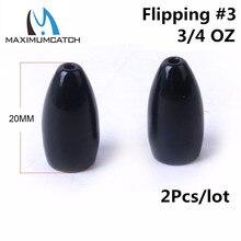 Maximumcatch 2-4pcs/lot 1/8-3/4OZ Tungsten Bullet Worm Weight Fishing Sinker Lure Fishing Accessory