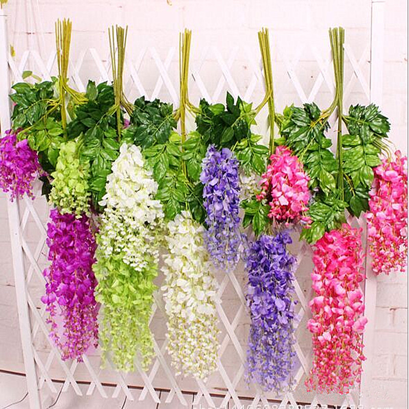 12pcslot 110cm wisteria artificial silk flowerswedding party 12pcslot 110cm wisteria artificial silk flowerswedding party festival decoration flowersplastic wisteria flower retail cheap in artificial dried mightylinksfo