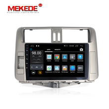 mic gift Free shipping Android7.1 car gps audio multimedia player for Toyota Land Cruiser prado 150 2010-2013 9inch HD screen