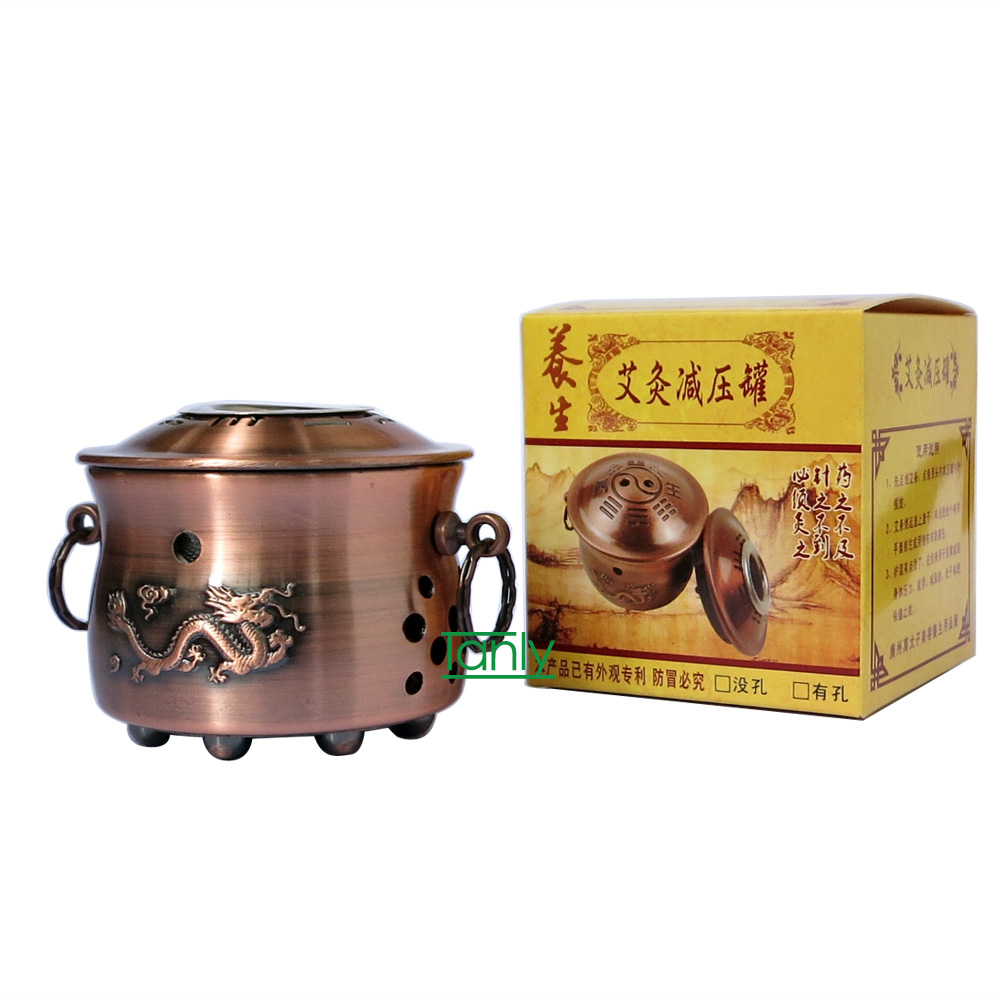 New arrive thicken metal body Moxa instrument Moxibustion pot