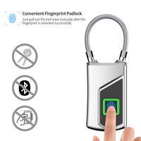 USB Rechargeable Smart Keyless Fingerprint Lock Waterproof Anti Theft Security Padlock for Luggage Case Backpack Personal Box