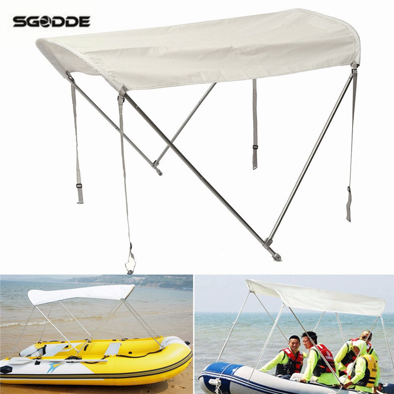 Inflatables Boat Sun Shelter Sailboat Awning Top Rowing Boats Cover Tent Sun Shade Rain Canopy Surfing Kayak Canoe Boat Top Kit esspero canopy