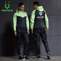 Vansydical Women Men Running Sets Tracksuit Fitness Hoodies Pants 2PCS Yoga Sets Sportswear Training Gym Hot
