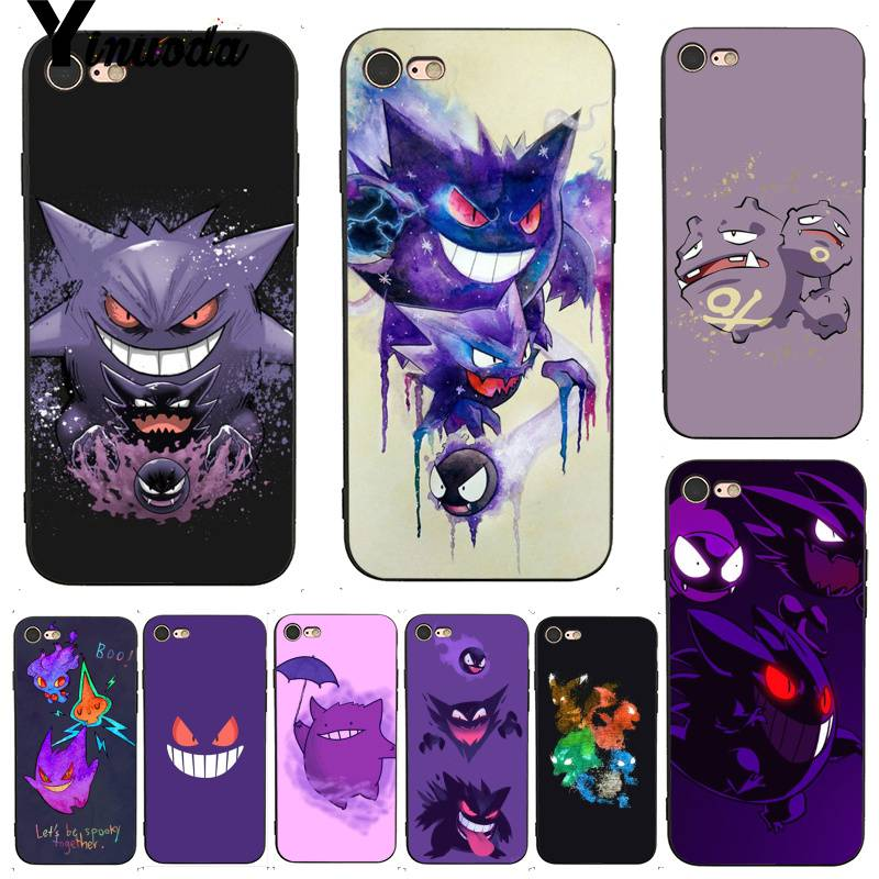 Yinuoda For Iphone 7 6 X Case Gengar Sinister Nebula Pretty Coque Shell Phone Case For Iphone 7 X 6 6s 8 Plus X 5 5s Se Xs Xr