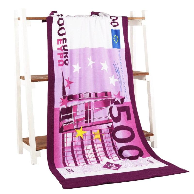 70*140cm imprimé microfibre Dollar bain serviette de plage serviette de bain drapeau USA corps gant de toilette pour la douche livraison gratuite