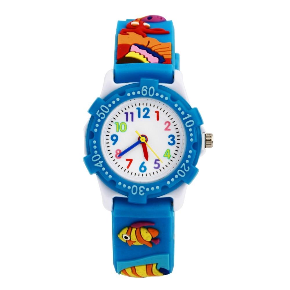 1 Pcs/lot NEW Cartoon Fish 3D Children Watch Best Gift Kids Cute Cartoon Kids Watch