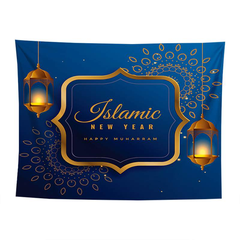 Dekzeil Gedrukt Achtergrond Doek Muur Decor Drop Shipping Arabische Islamitische Eid Al-fitr Stijl Tapijt Gang Decoratieve Aantrekkelijk Uiterlijk