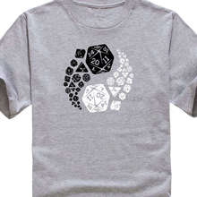 T Shirt Sayings Crew Neck Novelty  Dungeons And Dragons Yin Yang God Evil Short Sleeve Mens T-Shirt Summer Style Funny